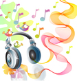 headphones abstract vector image