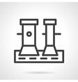 Line icon for pier bollard vector image