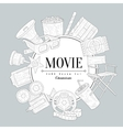 Movies Vintage Sketch vector image