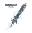 rocket icon Startup concept particle divergent vector image