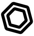 Screw Nut Stroke Icon vector image