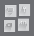 Set with Business Flat Icons vector image