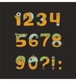 cute kind monster numbers set Yellow blue vector image