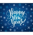 Happy new year card Lettering over background vector image vector image