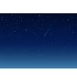 Shooting star in night sky vector image