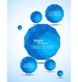 Abstract background with blue spheres vector image