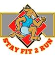 Dog running jogging stay fit 2 run vector image