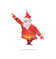 Santa Claus isolated on a white backgrounds vector image vector image