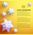 flower decorations background vector image