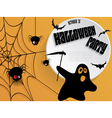 Creative Halloween party poster with message vector image vector image