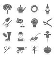 Vegetable garden icons set vector image