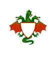 dragon shield vector image vector image