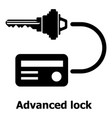 advanced lock icon simple black style vector image