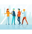 Business talk creative brainstorming vector image