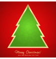 Christmas greeting card with cartoon xmas tree vector image