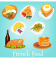 french food set vector image