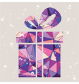 Gift present made of triangles vector image