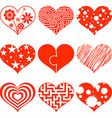 Set of hearts Stock vector image