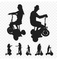 three-wheeled electric transport Elektrosamokat vector image