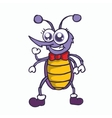 Funny mosquito cartoon character T-shirt design vector image