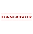 Hangover Watermark Stamp vector image