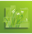 Environment concept Grass behind the glass vector image vector image