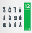detergent bottle icon set vector image vector image