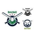 Baseball emblems and symbols vector image