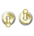 Golden Toggle Switch Button vector image
