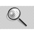 Transparency magnifying glass vector image vector image