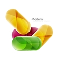 Colorful glossy glass bubbles for text vector image vector image