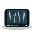 eco heart monitor isolated icon design vector image