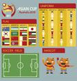 Asian cup australia 2015 vector image
