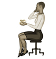 business woman and coffee vector image