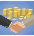 cartoon businessmen handshake vector image