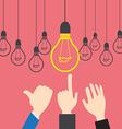 Concept Businessman want idea vector image