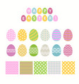 egg and pattern seteaster collection vector image