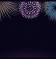 fireworks on night sky background realistic vector image