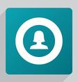 flat female profile icon vector image