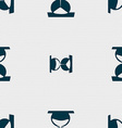 hourglass icon sign Seamless pattern with vector image