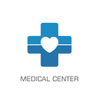 medical center vector image