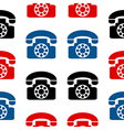 Retro phone symbol seamless pattern vector image