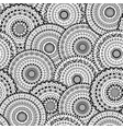 seamless pattern of round abstract mandala vector image