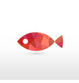 Sign of Fish with Modern Texture vector image