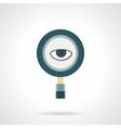 Spy flat color icon vector image