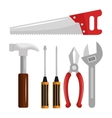 tools kit equipment icon vector image