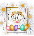 easter background with chamomile spring flower vector image