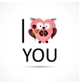 Valentines owl love you card vector image