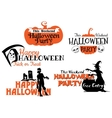 Halloween party banners set vector image