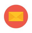 Mail Envelope Flat Circle Icon vector image